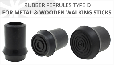 D TYPE RUBBER FERRULES FOR WALKING STICKS
